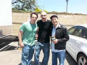 On the set of Real Rob with Jamie Lissow and Rob Schneider
