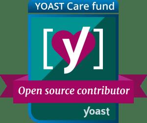 Yoast Care fund badge