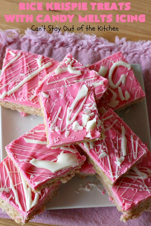 Rice Krispie Treats With Candy Melts Icing Can T Stay Out Of The Kitchen