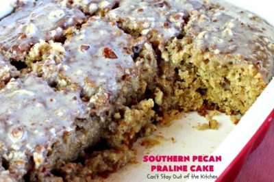 Southern Pecan Praline Cake - Can't Stay Out of the Kitchen