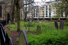 This was an unexpected bit of wilderness in the midst of a busy city. It drew me in and it was in this churchyard I found the Urbanscape Challenge entry.