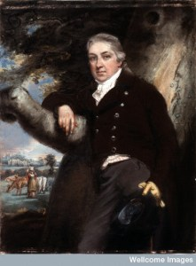 Edward Jenner. Pastel by John Raphael Smith. Image from the Wellcome Library, Ref no.: ICV 18291. Link to source.