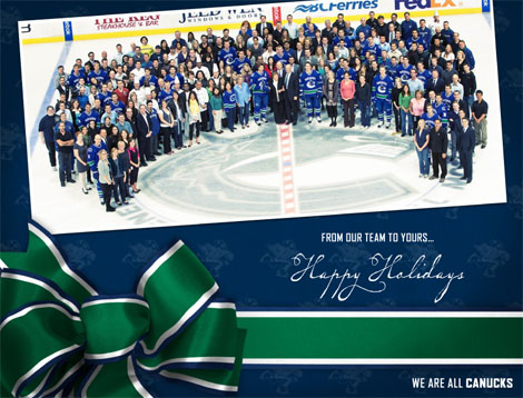 Merry Christmas from the Canucks!
