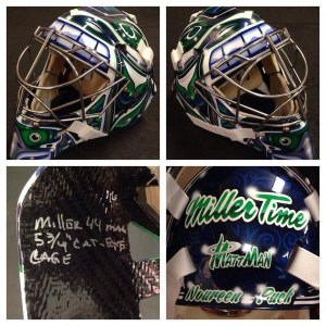 New Vancouver Canucks goaltender Ryan Miller's mask.