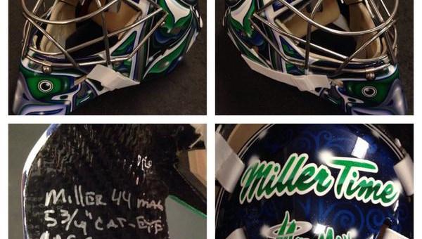 New Vancouver Canucks goaltender Ryan Miller's mask.