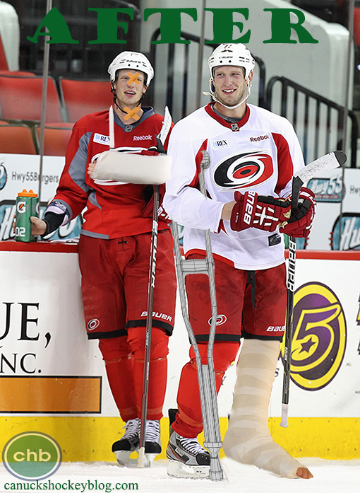 Carolina Hurricanes Eric Staal injured