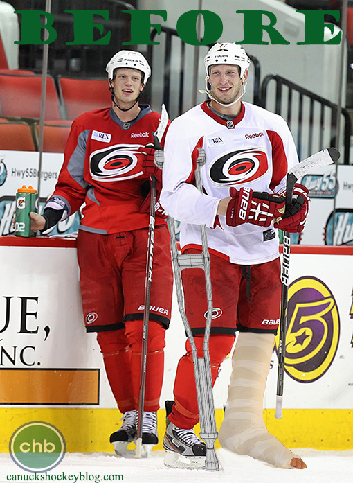 Caroline Hurricanes Jordan Staal injured pre-season