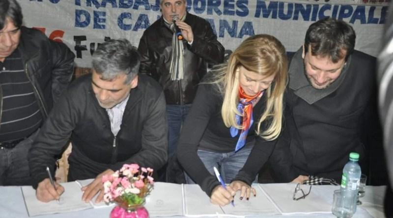 En un hecho sin precedentes para Cañuelas, la intendenta Marisa Fassi y representantes de la Federación Sindical de Municipales Bonaerenses de Cañuelas festejaron la concreción del primer Convenio Colectivo de Trabajo.