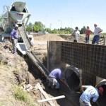 La jefa comunal, Marisa Fassi recorrió obras de infraestructura comunitaria que desarrolla el municipio en la localidad de Máximo Paz.