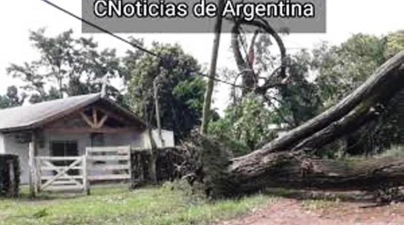 Una Cola de Tornado pasó por el Barrio de Los Pozos partido de Cañuelas.
