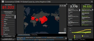 Coronavirus COVID-19 mapa interactivo para segur la evolución.