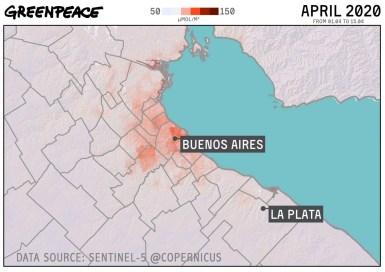 Greenpeace, Los efectos en al aire según se flexibiliza la cuarentena