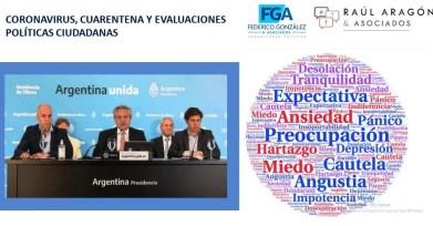 Argentina Coronavirus COVID-19 investigación sobre una encuesta política realizada por Raúl Aragón