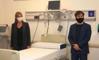 """Cañuelas El gobernador Axel Kicillof recorrió el Hospital Kirchner y el Centro de Aislamiento """"Hermanas Dominicas""""."""