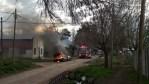 Cañuelas Barrió Libertad, pueblada prenden fuego una casa y el vehículo.