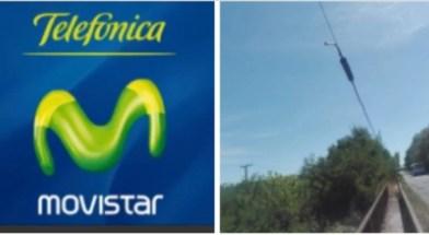 Cañuelas Vicente Casares- sin teléfonos ni internet, robaron los Cables de Movistar Telefónica, el 02/01/2021.