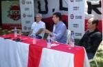 Cañuelas, conferencia de prensa el Intendente de San Isidro Posse con Ezequiel Rizzi.