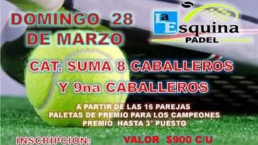 Cañuelas - Esquina Padel torneo para el domingo 28 de Marzo 2021