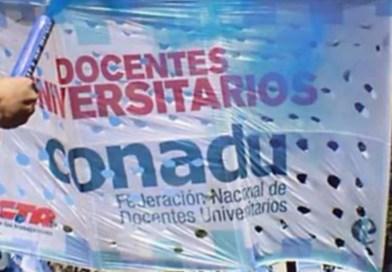 CONADU – el 15/3 nuevo paro de 48 horas convocado por la Federación Nacional de Docentes Universitarios.