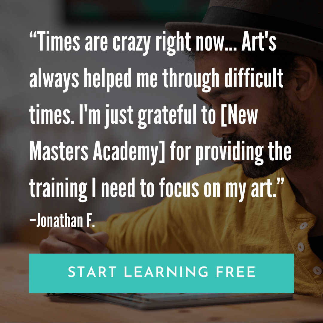 Join New Masters Academy, the best, most affordable art education available online.