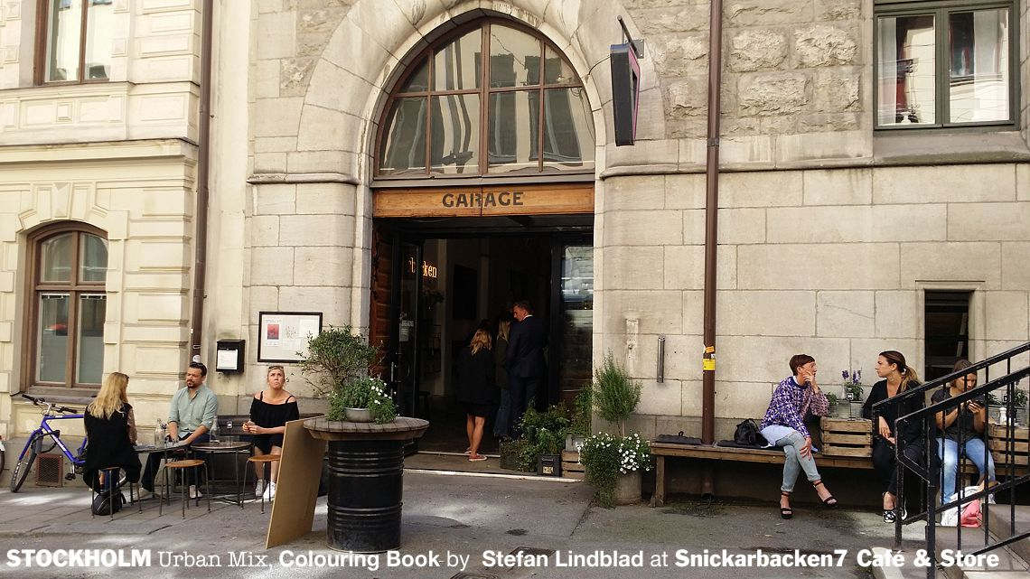 Snickarbacken7, cafe and Store, Stockholm coffee shop and design store, Stockholm urban mix, Coloring book for adults, Colouring for grown-ups, Stefan Lindblad