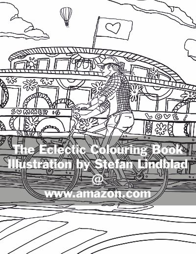 The Eclectic Colouring Book, Illustration by Stefan Lindblad, coloring