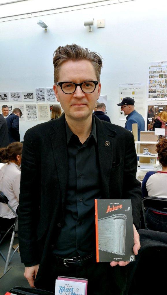 Knut Larsson, Aniara, Kartago Förlag, Seriefestivalen, Stockholm internationall comic festival, 2019