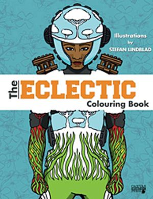 Målarboken The Eclectic Colouring Book, av Stefan Lindblad, illustration. Teckningar, illustrationer, målarböcker, amazon
