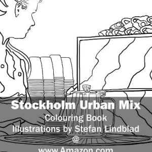 Stefan Lindblad, illustration, Illustratör, Illustration, teckningar, drawings, Corlouring, Coloring Book, Stockholm Urban Mix, Espresso House, Globen Shopping, Barista