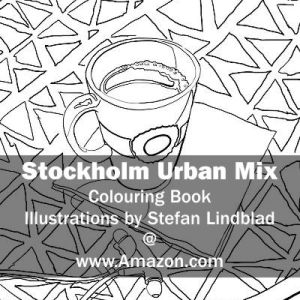 Stefan Lindblad, illustration, Illustratör, Illustration, teckningar, drawings, Corlouring, Coloring Book, Stockholm Urban Mix, Kaffemugg