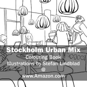 Stefan Lindblad, illustration, Illustratör, Illustration, teckningar, drawings, Corlouring, Coloring Book, Stockholm Urban Mix, Waynes Coffee, Liljeholmen, Liljeholmstorget, Kafe, Cafe
