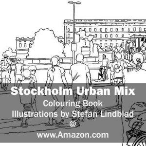 Stefan Lindblad, illustration, Illustratör, Illustration, teckningar, drawings, Corlouring, Coloring Book, Stockholm Urban Mix, Slott, Slottet, Gustav Adolfs Torg