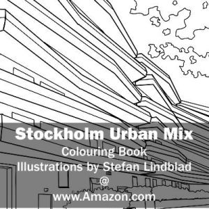 Stefan Lindblad, illustration, Illustratör, Illustration, teckningar, drawings, Corlouring, Coloring Book, Stockholm Urban Mix, Hammarby Sjöstad