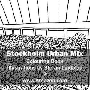 Stefan Lindblad, illustration, Illustratör, Illustration, teckningar, drawings, Corlouring, Coloring Book, Stockholm Urban Mix, glass
