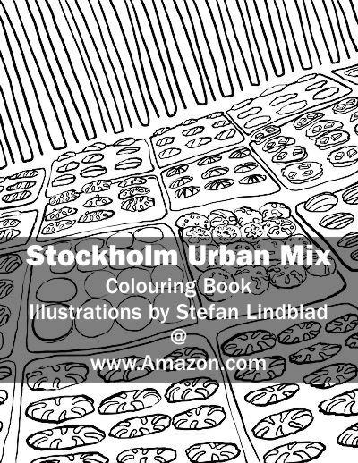 Stefan Lindblad, illustration, Illustratör, Illustration, teckningar, drawings, Corlouring, Coloring Book, Stockholm Urban Mix, ice-cream, icecream, glass