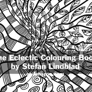 The Eclectic Colouring Book, Stefan Lindblad, illustrationer, tapestries, pläd, plädar, tyg, mönster, patterns