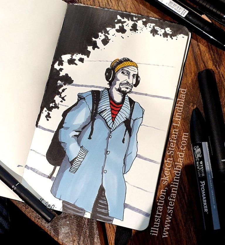 Sketchbook Heroes illustratörer tecknar tillsammans på Espresso house