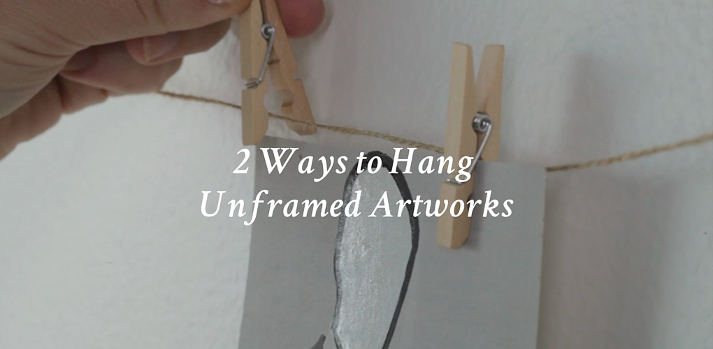 2 Ways To Hang Unframed Photographs Or Works On Paper Canvas A Blog By Saatchi Art