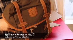 Fjallraven Rucksack no.21 unboxing