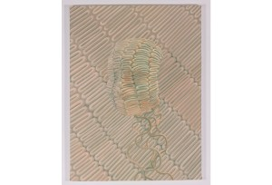 """Sascha Braunig, """"Chur,"""" 2014, oil on linen over panel, 24 x 18 inches. The Baltimore Museum of Art: Dr. Max Stern Trust Fund, BMA 2015.86. Photo: Mitro Hood. Courtesy of the artist and Foxy Production, New York."""