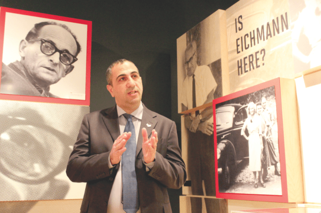 "Career Mossad agent Avner Avraham discusses Adolf Eichmann's clandestine residency in Argentina at ""Operation Finale."""