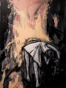 """Little One,"" 36x28 inches, oil and charcoal on canvas; image courtesy of the artist."