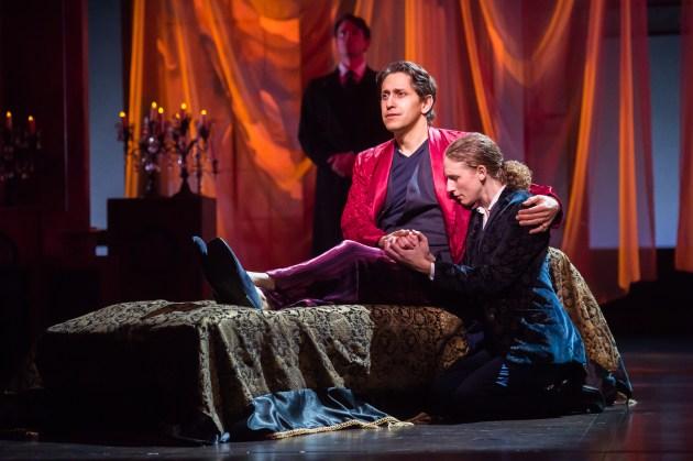 Juan Rivera Lebron as Orsino and Cassandra Bissell as Viola disguised as Cesario. | Photo / Ken Balze