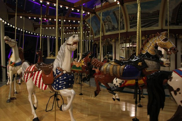 The Euclid Beach Grand Carousel at the Western Reserve Historical Society. Photo | Michael C. Butz