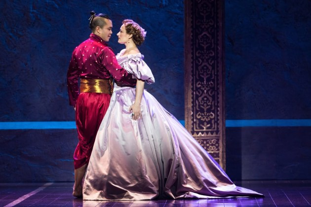 Jose Llana as the King of Siam and Laura Michelle Kelly as Anna. Photo | Matthew Murphy