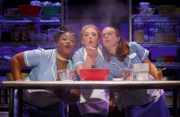 "Charity Angel Dawson as Becky, from left, Desi Oakley as Jenna and Leene Klingaman as Dawn in the national tour of ""Waitress"" at Playhouse Square. Photo / Joan Marcus"