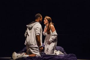 Ananias J. Dixon as Tristan and Olivia Scicolone as Connie. Photo / Steve Wagner Photography