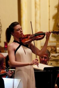 Violinist Tessa Lark was the soloist during CityMusic Cleveland's all-Beethoven show in May at the Shrine Church of St. Stanislaus.