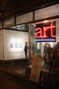 The Waterloo Arts gallery during a recent Walk All Over Waterloo art walk, which is held on the first Friday of every month in the Waterloo Arts and Entertainment District.