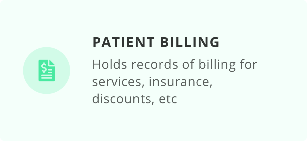 Patient Billing Card
